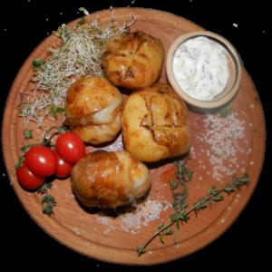 картошка в свиной сетке